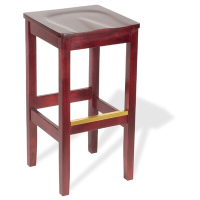 Bulldog Unfinished Backless Bar Stool (24