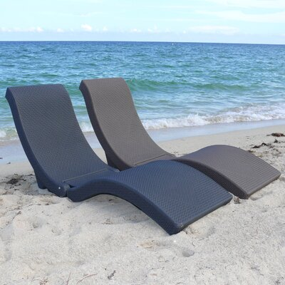 Infinita Corporation Charcoal The Splash Chaise Lounge