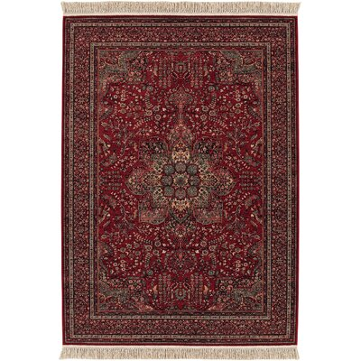 Couristan Kashimar All Over Center Medallion/Antique Red Rug