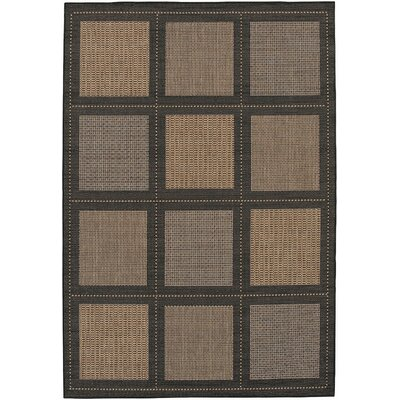 Couristan Recife Summit Black Cocoa Rug