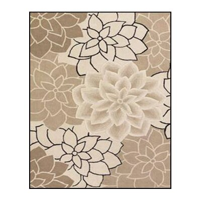 Super Indo-Colors Oleander Beige/White Rug