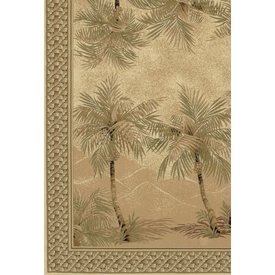 Couristan Everest Palm Tree Desert Sand Floral Rug