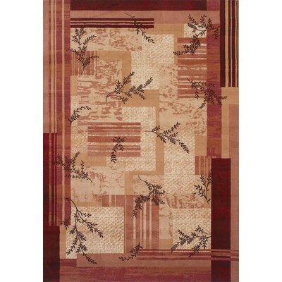 Shaw Rugs Inspired Design Notting Hill Red/Gold Rug