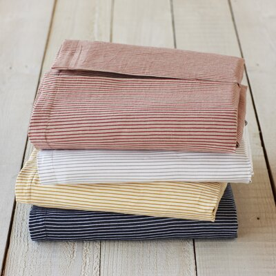 Coyuchi Mini Stripe Cotton and Linen Crib Skirt