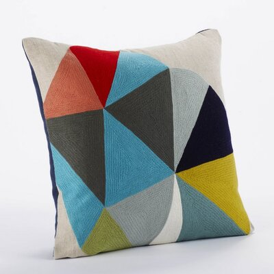 Coyuchi Color Wheel Linen/Wool Decorative Pillow