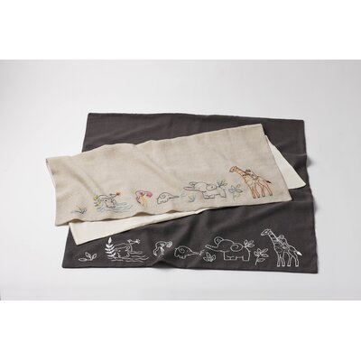 Coyuchi Critter Embroidered Linen Receiving Blanket