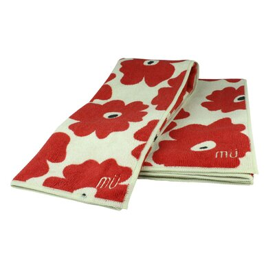 "MU Kitchen MUmodern 16"" x 24"" Towel in Red Poppy (Set of 2)"