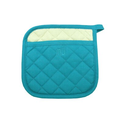 "MU Kitchen MUincotton 9"" x 9"" Potholder in Sea Blue"