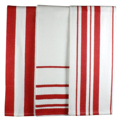 MU Kitchen MUincotton Dish Towel in Punch Stripe (Set of 3)