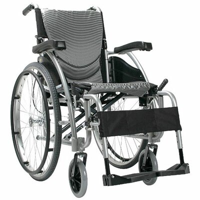 Karman Healthcare Ergonomic Lightweight Wheelchair with Quick Release Axles