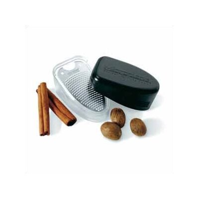 Microplane Specialty Nutmeg Grater and Shaker in Black