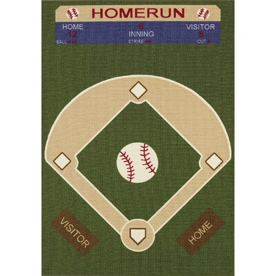 Dalyn Rug Co. All Stars Baseball Ground Kids Rug