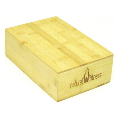 "Natural Fitness 3"" Bamboo Yoga Block"