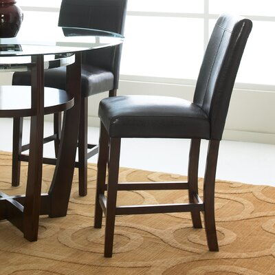 Apollo Counter Height Stool in Deep Brown Cherry