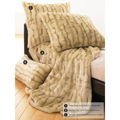 Wildcat Territory Lover Boy Luscious Fur Throw & Pillow in Tawny