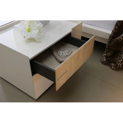 Rossetto USA Diamond 2 Drawer Nightstand