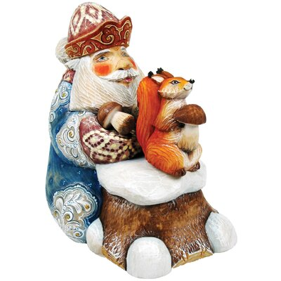 Hand-Crafted Save For Winter Santa Statue
