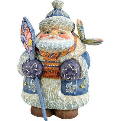 Hand-Crafted Butterfly Wishes Santa Statue