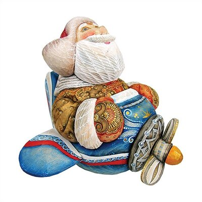 Hand-Crafted Aviator Santa Statue