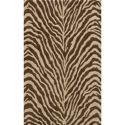Momeni 3.8Deco Zebra Brown Rug
