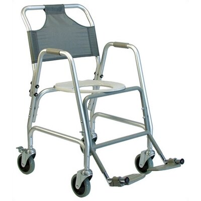 Lumex Aluminum Shower Chair with Casters and Option Footrests