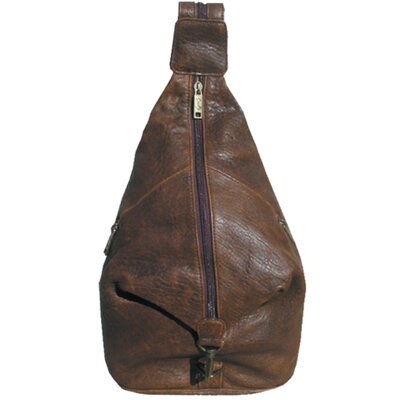 Scully Distressed Leather Pebble Calf Travel Sling in Brown