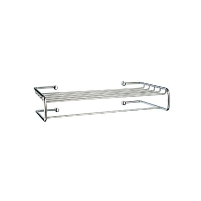 Smedbo Sideline Towel Shelf with Towel Bar in Polished Chrome