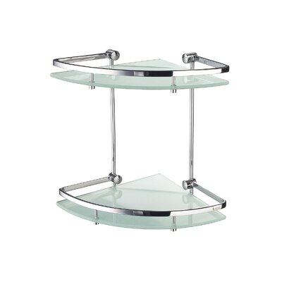Smedbo Outline Wall Mount Corner Shelf in Polished Chrome