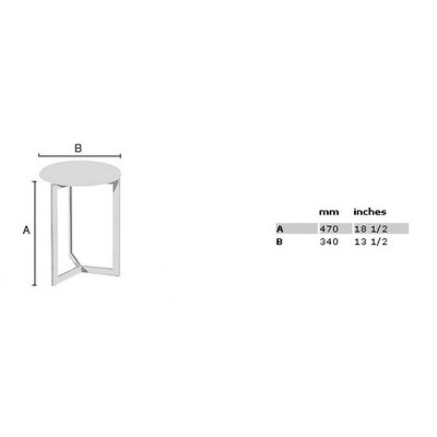 "Smedbo Outline 18.5"" Shower Chair with Werzalite White Seat in Polished Stainless Steel"