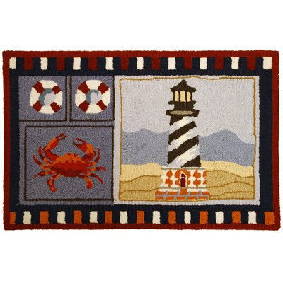 Homefires Lighthouse and Crab Rug