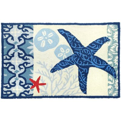 Homefires Italian Tile With Starfish Rug