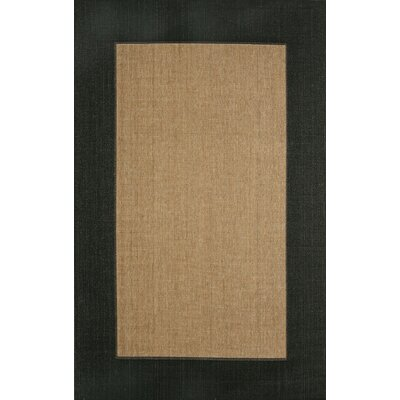Trans-Ocean Rug Tropez Border Black Indoor / Outdoor Rug