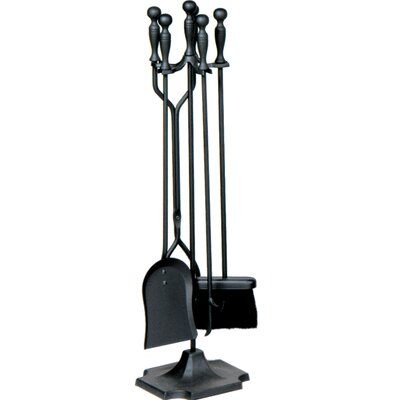 Uniflame Corporation 4 Piece Metal Fireplace Tool Set