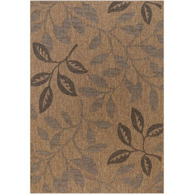 Balta Rugs Patio Laurel Leaves Brown/Black Rug