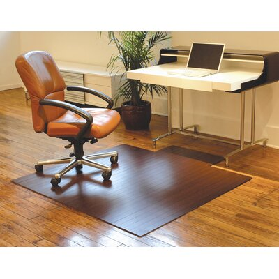 Anji Mountain Bamboo Standard Hard Floor Rounded Edge Chair Mat