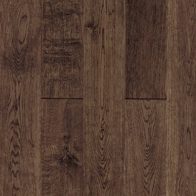 "Armstrong Gatsby Hand-Sculpted 5"" Solid White Oak Flooring in Vintage Brown"