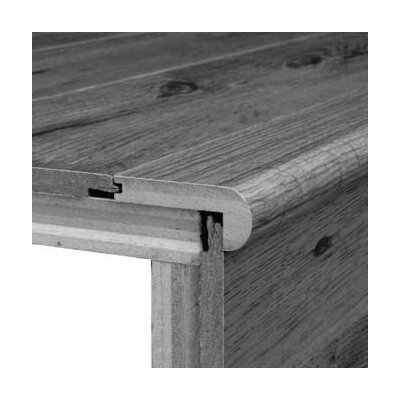 "Bruce Flooring 0.75"" x 3.13"" Hickory Stair Nose in Saddle - Sculpted"