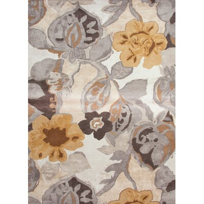 Blue White/Nickel Floral Rug