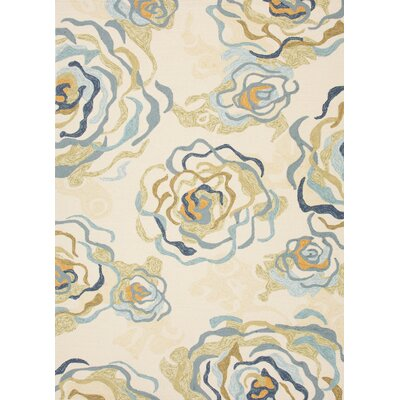 Colours I-O White Floral Rug