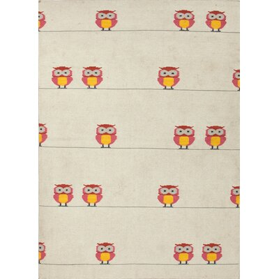 Maroc Antique White Owl's Well Novelty Rug