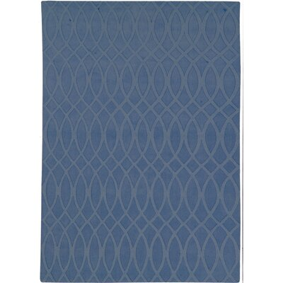 Metro Denim Blue Solid Rug