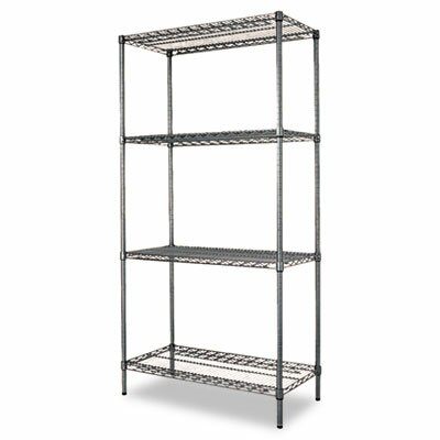 "Alera® 36"" W x 18"" D Industrial Wire Shelving Starter Kit in Black"