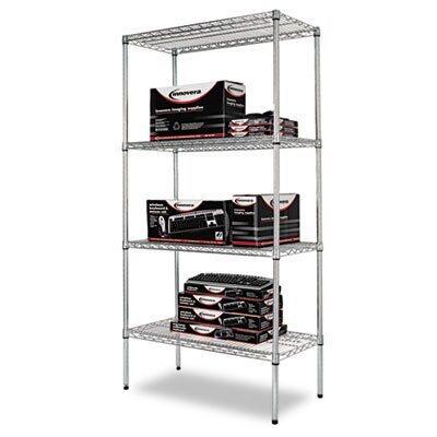 "Alera® Four-shelf 36"" W x 18"" D Industrial Wire Shelving Starter Kit"