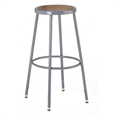 KI Furniture Height Adjustable Stool with Adjustable Legs