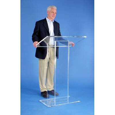AmpliVox Sound Systems Large Top Clear Acrylic Lectern