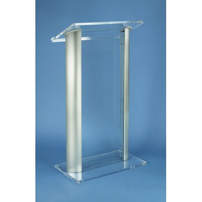 AmpliVox Sound Systems Contemporary Aluma Acrylic Lectern