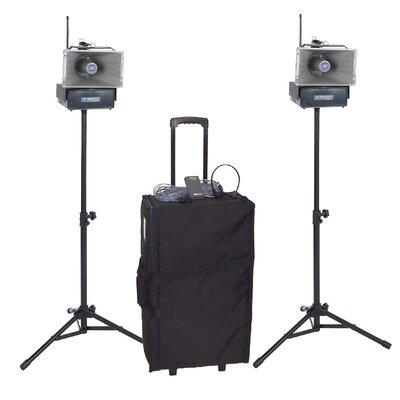 AmpliVox Sound Systems Half-Mile Hailer Kit with Wireless Powered Speakers