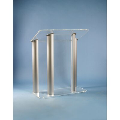 AmpliVox Sound Systems Acrylic and Aluminum Lectern