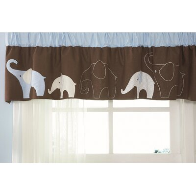 Carter's® Blue Elephant Rod Pocket Tailored Curtain Valance