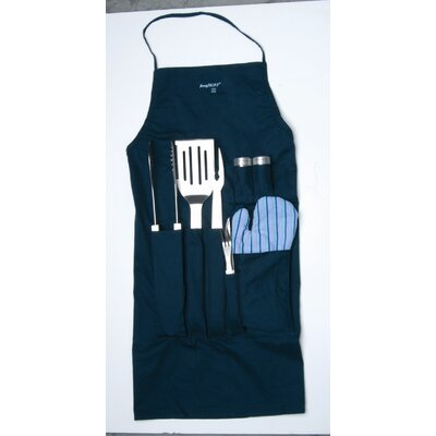 BergHOFF International Orion 9-Piece BBQ Set with Apron
